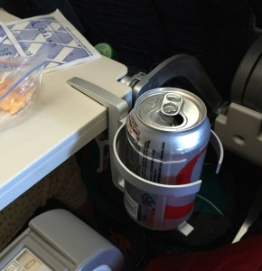 The Cup Holder in use on a flight