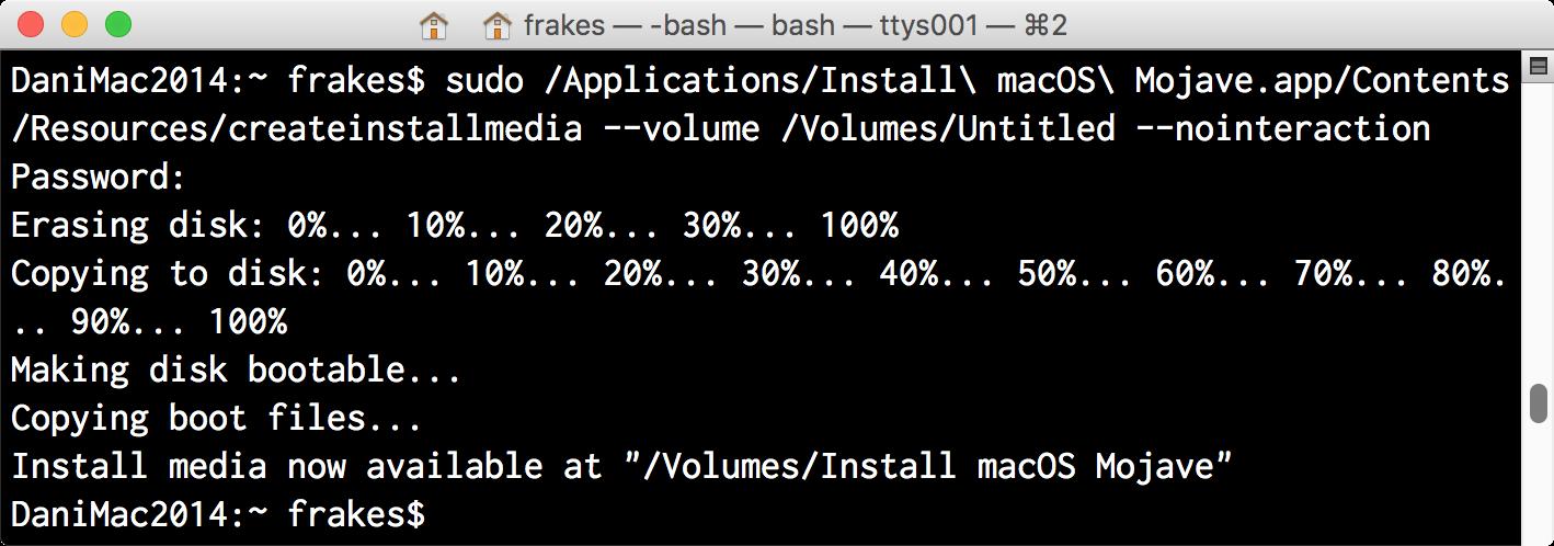bootable macos installer flash drive